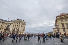 Praha turister Slottet mennesker turistfeller