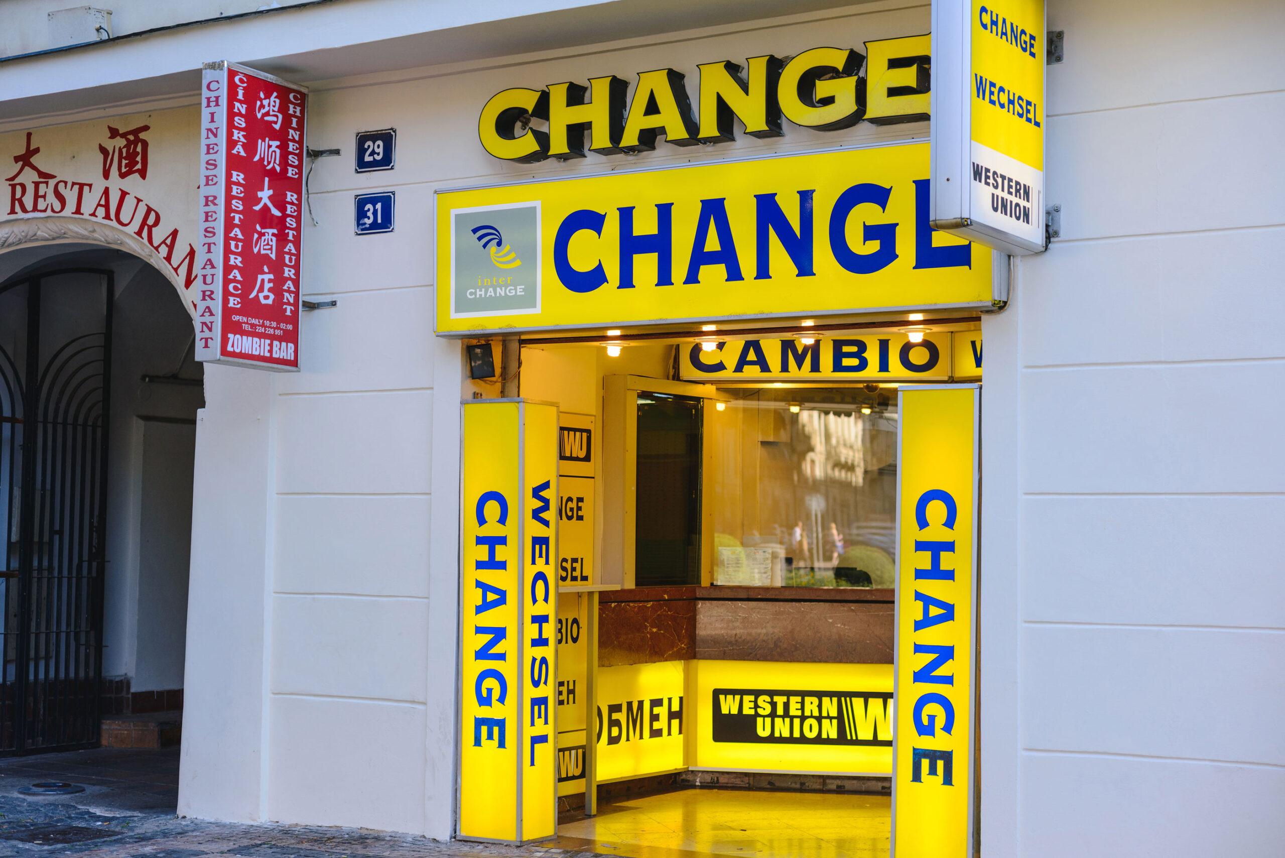 Praha vekslekontor penger valuta vekslekiosk Change penger