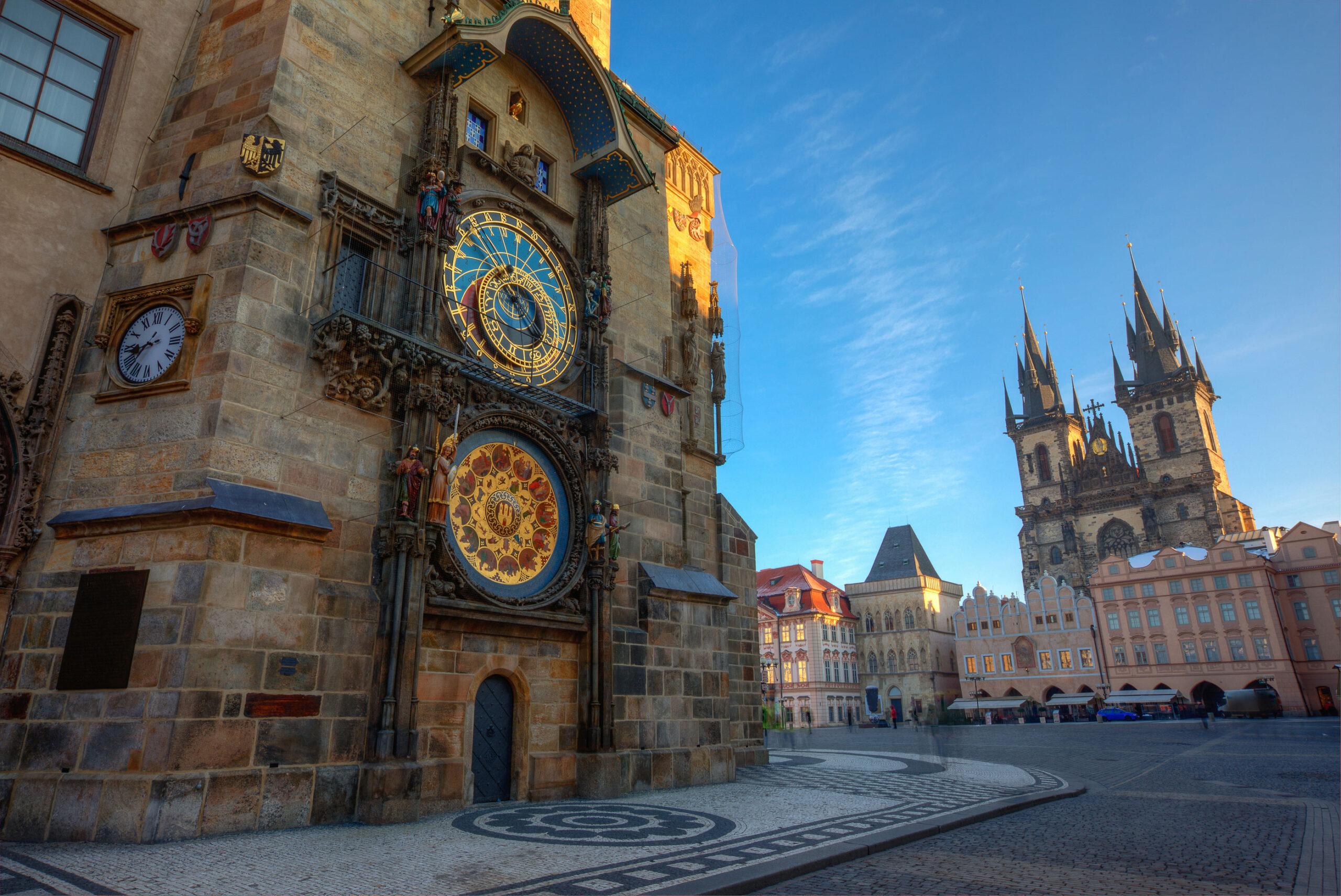 Det gamle radhus Praha astronomiske klokke severdighet