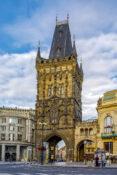 Krutt tarnet Praha Powder Tower guide attraksjon