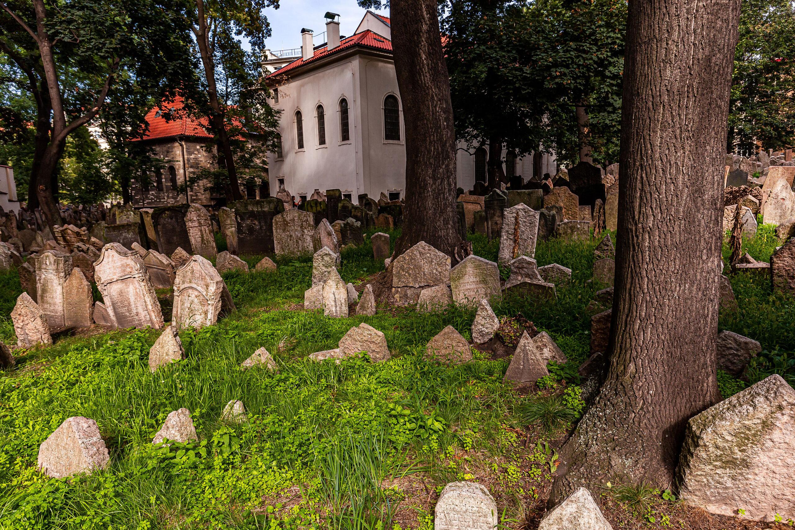 den jodiske kirkegarden Praha jodedommen gravplass